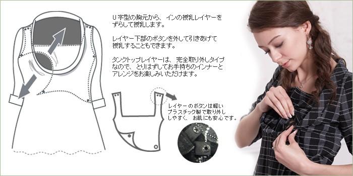 レトロ授乳機能付きワンピース【エマ】レディースサイズ
