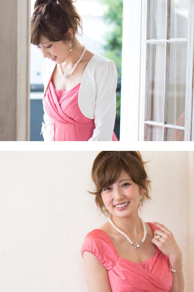 美しい胸元を叶えるフォーマル授乳服ドレス
