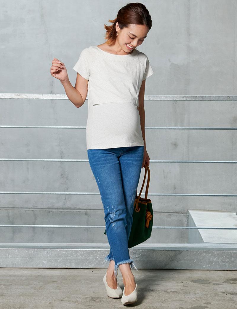 Tシャツなのにキレイ見せ!ホワイトティーシャツデニムコーデ