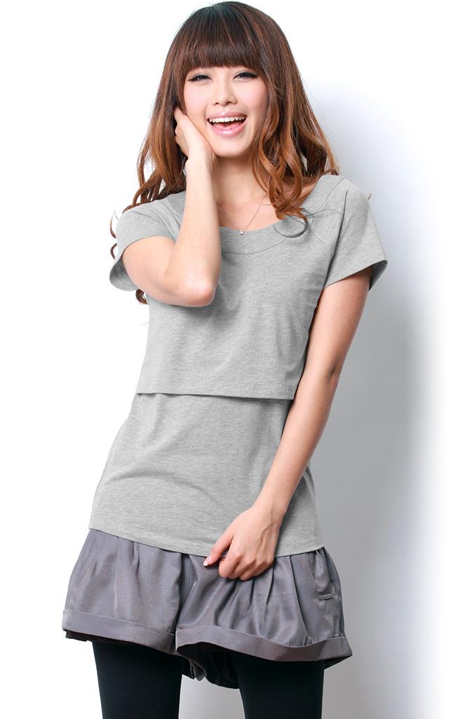 シンプルで気取らない ベーシック授乳Tシャツ