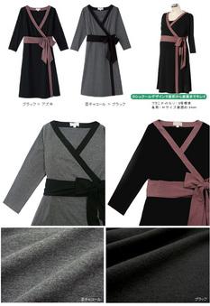 配色カシュクールワンピース 授乳服&マタニティウェア[sw9150]