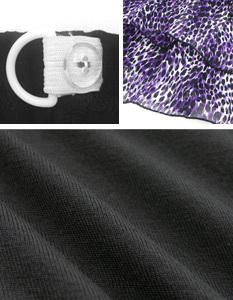 レオパード柄ティアードフリルミニスカート 授乳服&マタニティウェア[sw9168]