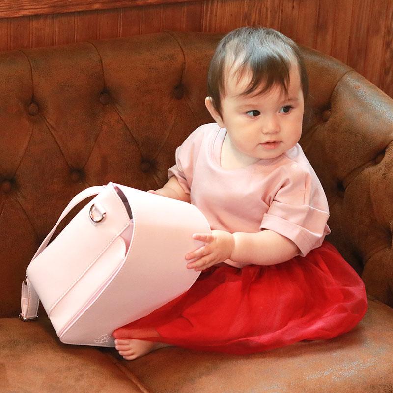 ピンク着用