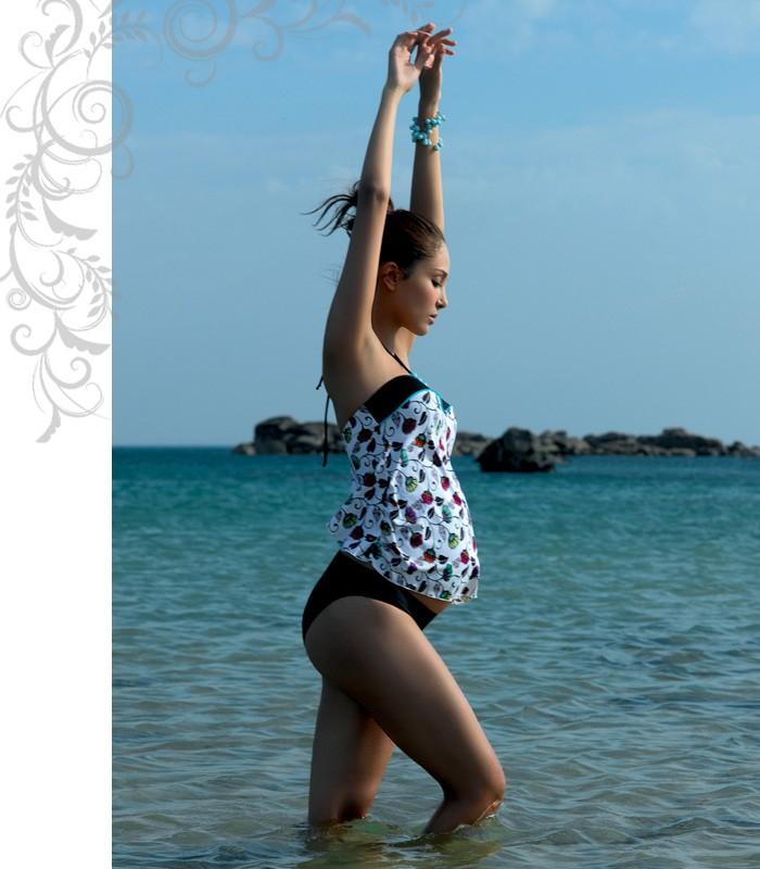 RIO リオ フラワープリントスイムウェア マルチ マタニティ/水着/スイムスーツ/マタニティ水着/出産準備