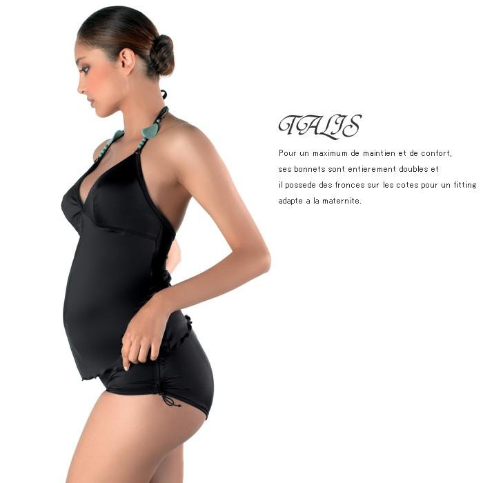 TALIS タリス ホルターネックスイムウェア ブラック マタニティ/水着/スイムスーツ/マタニティ水着/出産準備